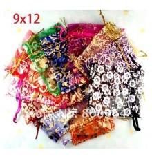 Lot de 50 Pochettes à bijoux organza mixte