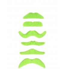 Moustache Adhésive Vert Fluo pour Adulte