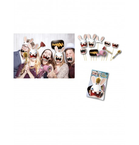 10 accessoires photobooth Lapins Crétins