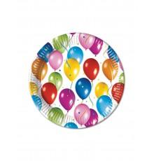 10 Assiettes ballons volants