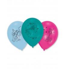 10 Ballons latex La Reine des Neiges