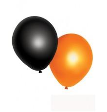 10 Ballons oranges et noirs Halloween