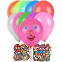10 Ballons stickers visage