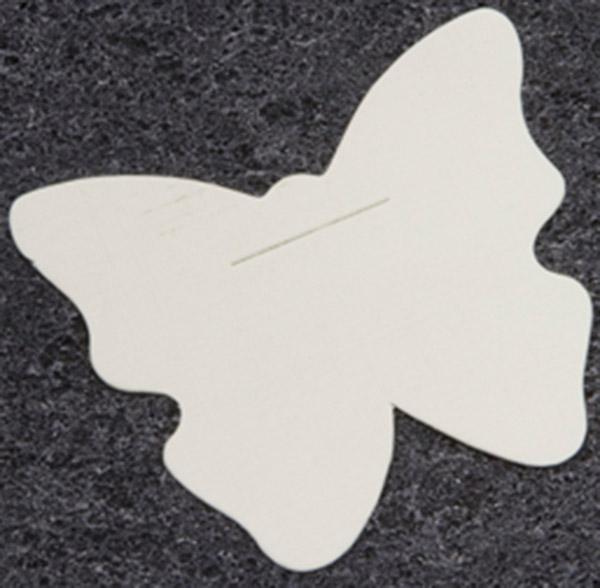 Lot de 10 Cartes Blanches en Forme de Papillon