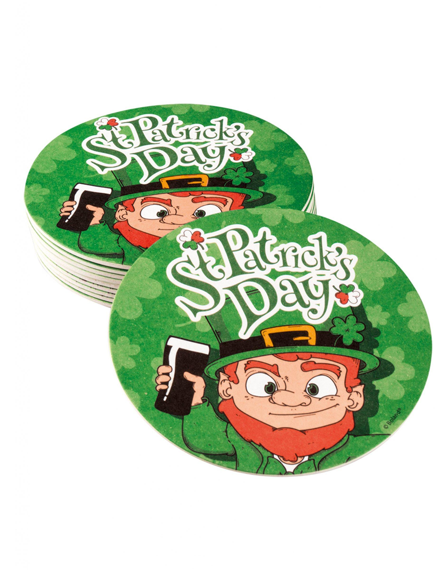 Lot de 10 Dessous de Verre Saint Patrick