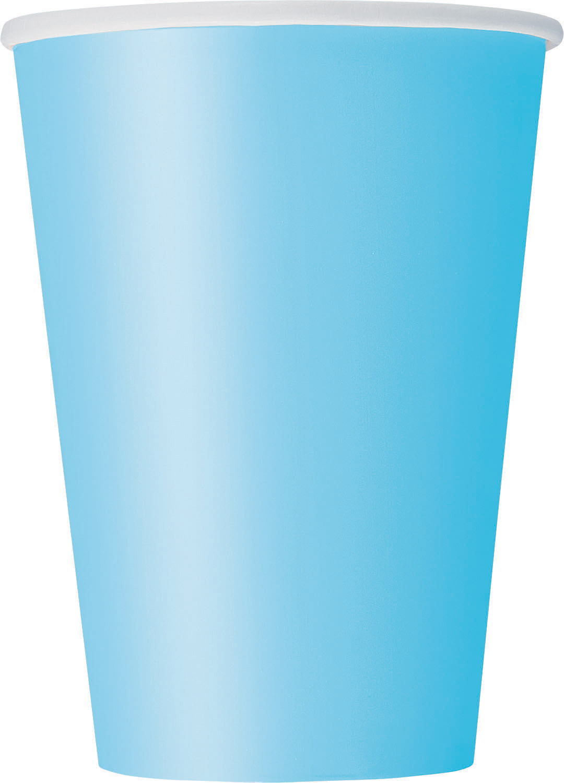 10 Gobelets bleu pastel en carton 355 ml