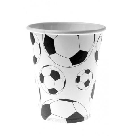 10 gobelets cartons ballon football
