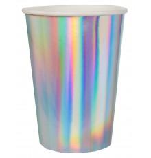 Gobelets en carton avec extérieur iridescent