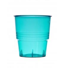 10 Gobelets en plastique turquoise 25 cl