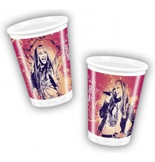 Lot de dix gobelets 20 cl Hannah Montana