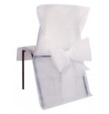 10 Housses de chaise Blanche