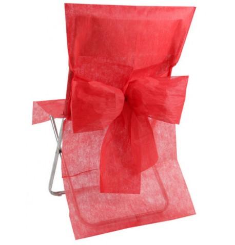 10 Housses de chaise Premium rouge