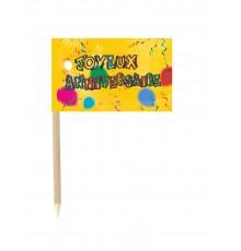 10 mini pics drapeaux Joyeux anniversaire