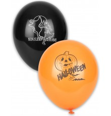 Lot de 12 ballons en latex Halloween