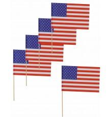 Paquet de 12 Pics Drapeaux USA