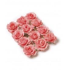 Set de 12 Roses à Piquer Couleur Corail