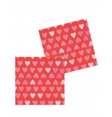 12 Serviettes en papier Love you 33 x 33 cm