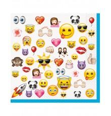 16 Grandes serviettes Emoji 33 x 33 cm