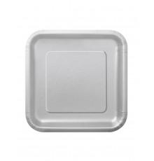 Paquet de 16 petites assiettes en carton 17,78 cm