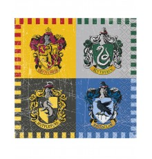 16 Petites serviettes en papier Harry Potter  25 x 25 cm