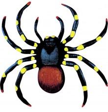 Lot de 2 araignées réalistes colorées 10 cm