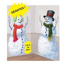 2 Géants bonhomme de neige 1,65 m
