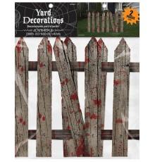 2 Décorations barrières ensanglantées d'Halloween 59 cm