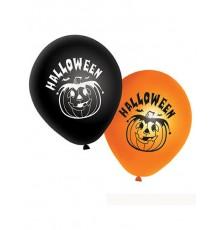 20 Ballons oranges et noirs citrouilles Halloween