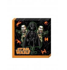 Lot de 20 Serviettes Halloween Star Wars 33 x 33 cm