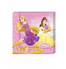 20 Serviettes en papier 33x33cm Princesses Disney Dreaming