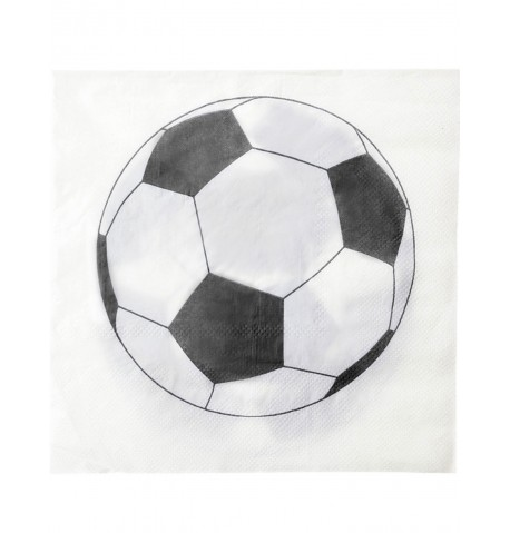 Pack de 20 Serviettes en Papier Motif Ballon Football