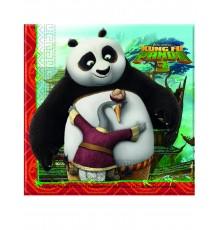 20 Serviettes en papier Kung Fu Panda 3 33 x 33 cm