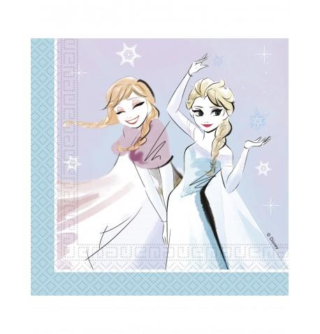 Paquet de serviettes en papier La Reine des Neiges 33 cm