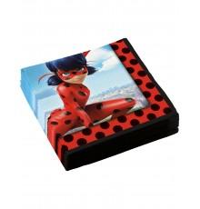 20 Serviettes en papier Ladybug 33 x 33 cm