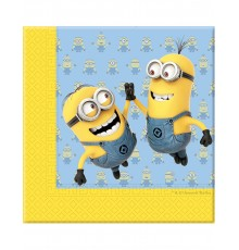 20 Serviettes en papier lovely Minions 33 x 33 cm