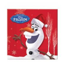 Pack de vingt serviettes en papier Olaf Christmas