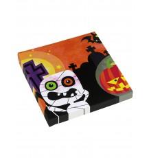 Sachet de 20 Serviettes en papier petits monstres Halloween