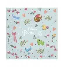 20 Serviettes en papier Princesses Disney 33 cm
