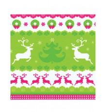 20 Serviettes en papier Rennes de Noël 33 x 33 cm