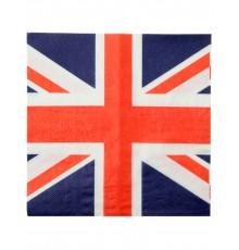 20 Serviettes en papier Royaume-Uni 33 x 33 cm