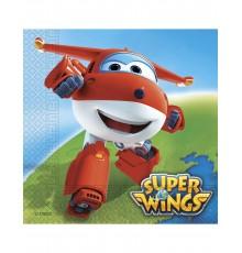 20 Serviettes en papier Super Wings 33 x 33 cm
