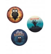 Kit de 3 badges Halloween vintage
