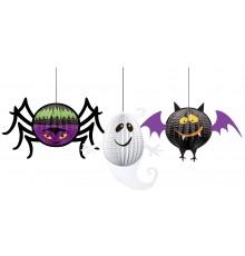 3 Décorations 3D à suspendre Halloween