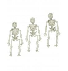 Lot de 3 Décorations à Suspendre Squelettes