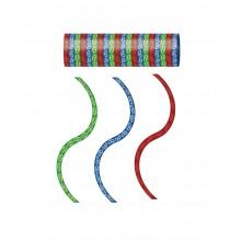 3 rouleaux de serpentins rouge bleu vert Pyjamasques