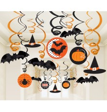 30 Décorations spirales Halloween