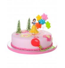 4 accessoires pour gâteau Princesses Disney  Blanche Neige 10 x 20,5 x 5 cm