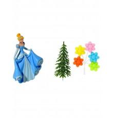 4 accessoires pour gâteau Princesses Disney  Cendrillon 10 x 20,5 x 5 cm
