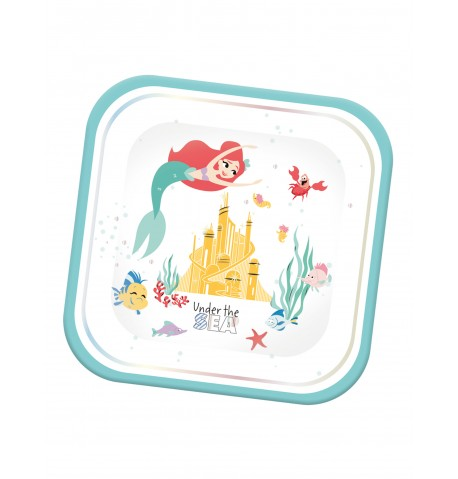 4 Assiettes en carton carré premium Ariel 24 x 24 cm