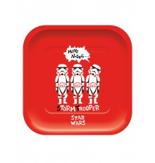 Pack de 4 assiettes premium Star Wars 24 x 24 cm